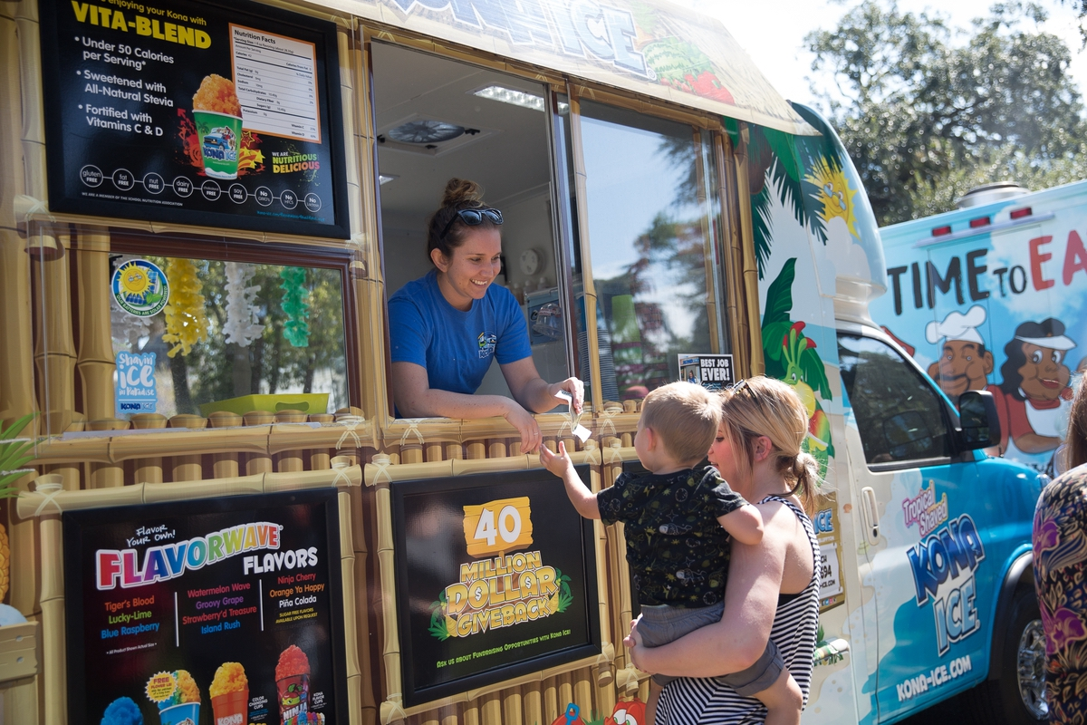 Kona Ice cooled things off with cold treats at the Beaufort Food Truck Festival.