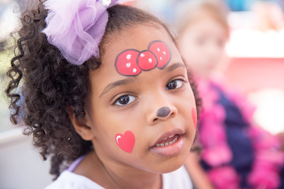 A little girl got her face painted at the Beaufort Food Truck Festival, which featured kid's activities in addition to the wide variety of foods.