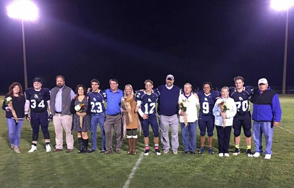 The Beaufort Academy football program held its Senior Night festivities on Oct. 27. Photo courtesy of Beaufort Academy.