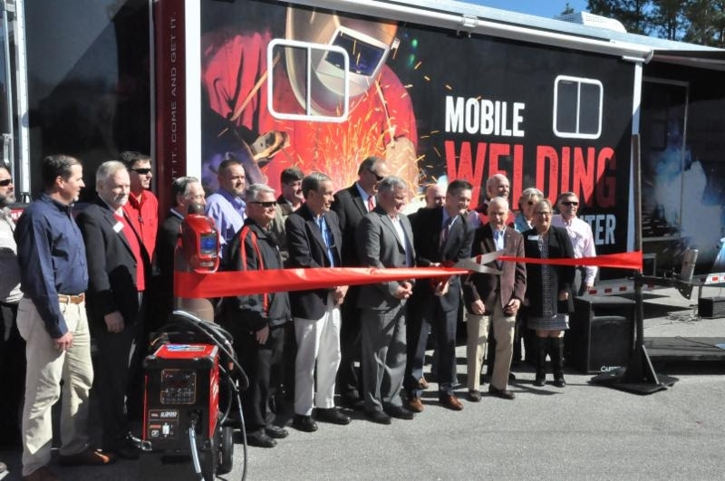 The Technical College of the Lowcountry held a ribbon cutting for its welding and CDL programs. Photo provided.