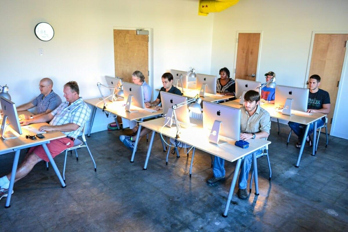 Students study web development at USCB. Photo provided.