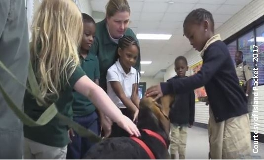 Beaufort County elementary students voted on a name for the sheriff's office new bloodhound. Photo provided.