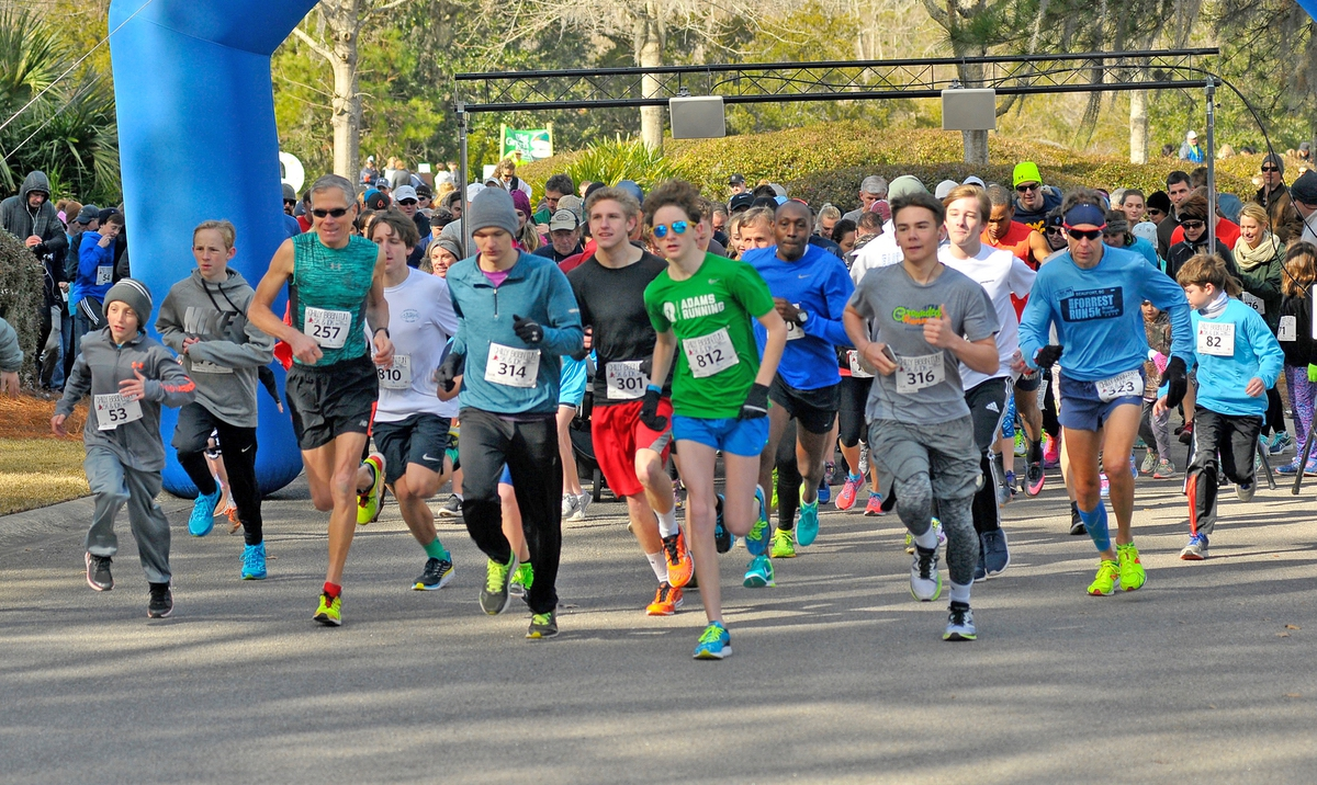 The Annual Chilly Bean Run attracted more than 300 runners last Saturday on Lady's Island.